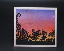 Beautiful sunset leaves Metal Cutting Dies Scrapbooking Embossing DIY Decorative Cards Cut Stencils