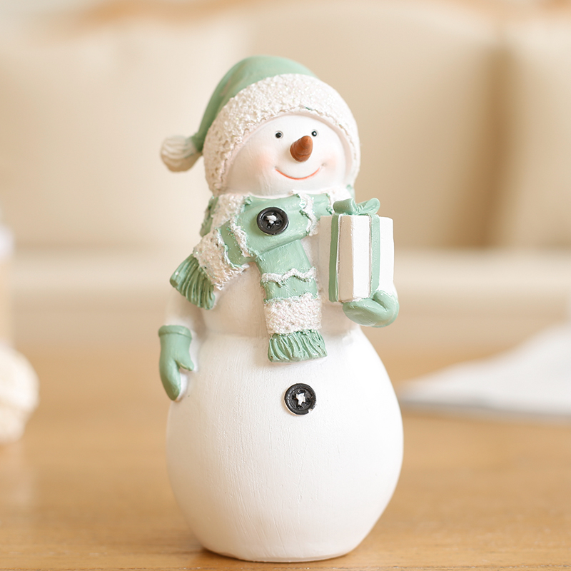 Nordic Simple Sculpture Home Decoration Handmade Wedding Gifts Old Furnishings Tim Ceramic Snowman Kids Ornaments Craft
