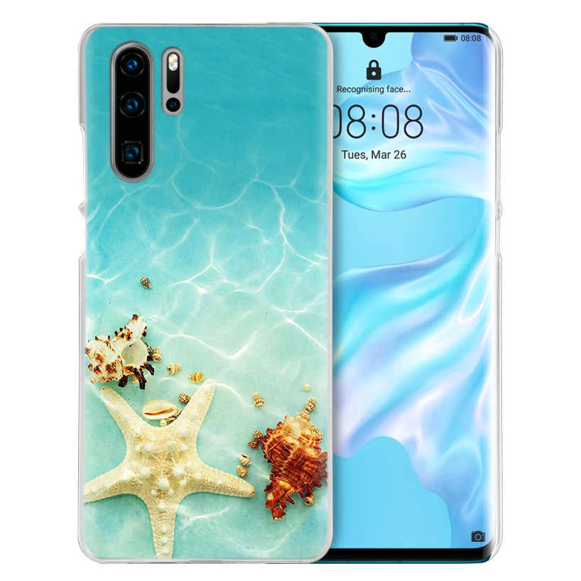 Seashells Sea Star สำหรับ Huawei P20 P30 P สมาร์ท 2019 Nova 4 3i P10 P9 P8 Mate 10 20 lite Pro Mini 2017 Hard PC ฝาครอบโทรศัพท์