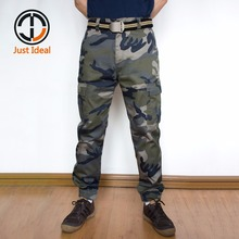 2019 Men Camouflage Pants Fashion Trousers Casual Cargo Beam Pants Military Style Harem Pant Brand Clothing ID808