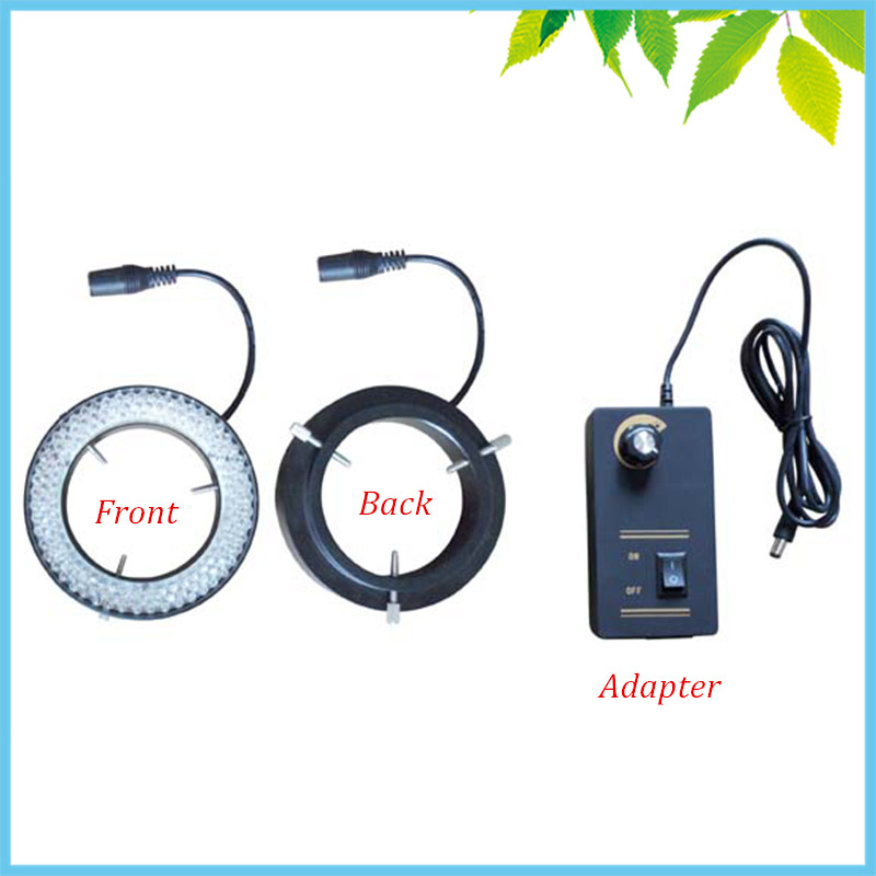 156 PCS UV Microscope LED Ring Light 81mm Large Inner Diameter LED Ring Lamp with Adapter for Camera Illumination