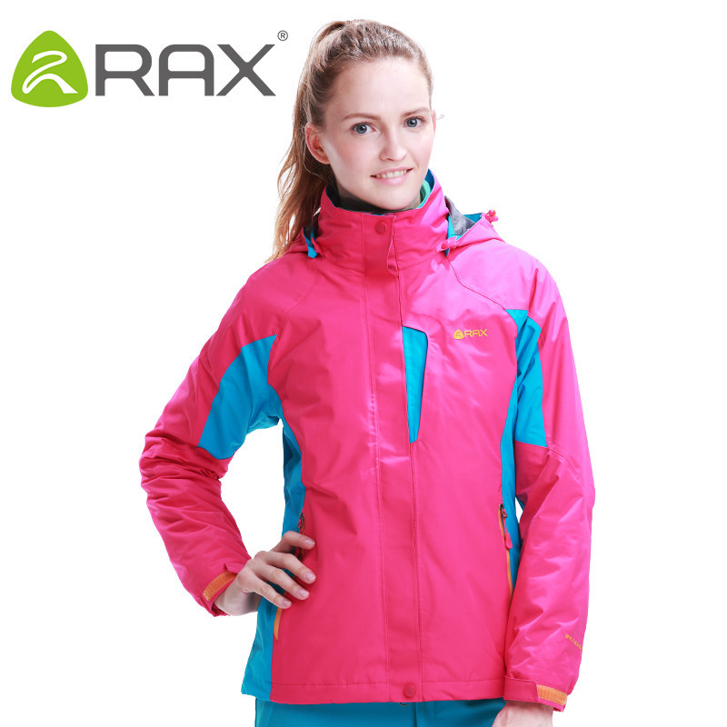 RAX Outdoor Warm Winter Woman Hiking Jacket 2 in 1 Waterproof Hiking Jacket for Women Camping Trekking Winter Jacket For Women rax camping