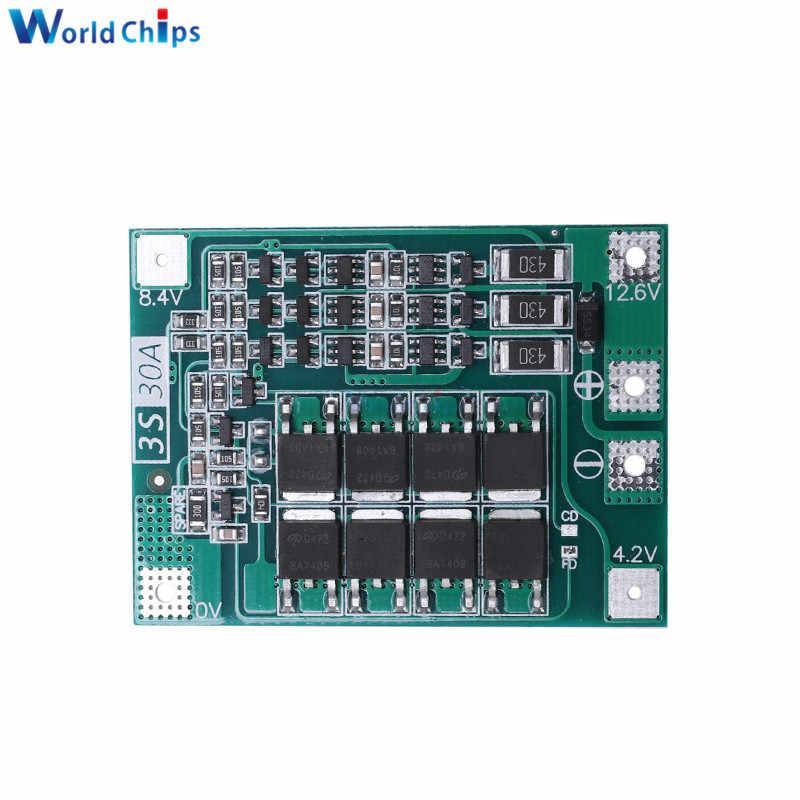 DIY elektroniczny 3S 30A BMS ładowania baterii płyta ochronna 18650 bateria litowa ochrony balance board do napędu wiertła