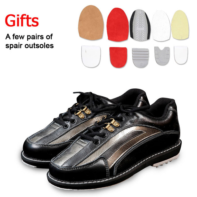 Professional unisex bowling shoes right & left hand anti-skid outsole sneakers genuine leather breathable Reflective shoes 1