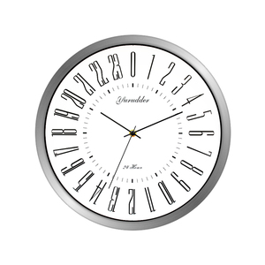 Image 2 - Newest 24 Hour Dial Design 2 Living Room 12 Inches Step Metal Frame Modern Fashion Decorative Round Wall clock