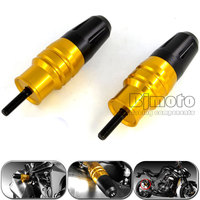 2 PCS New Gold Motorcycle Crash Pads Exhaust Sliders Crash Protector For Kawasaki Z1000 Z1000SX 2013