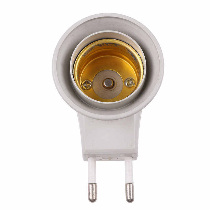 E27 220V 6A LED Light Male Socket to EU  Plug Adapter Converter for Bulb Lamp Holder With ON/OFF Button