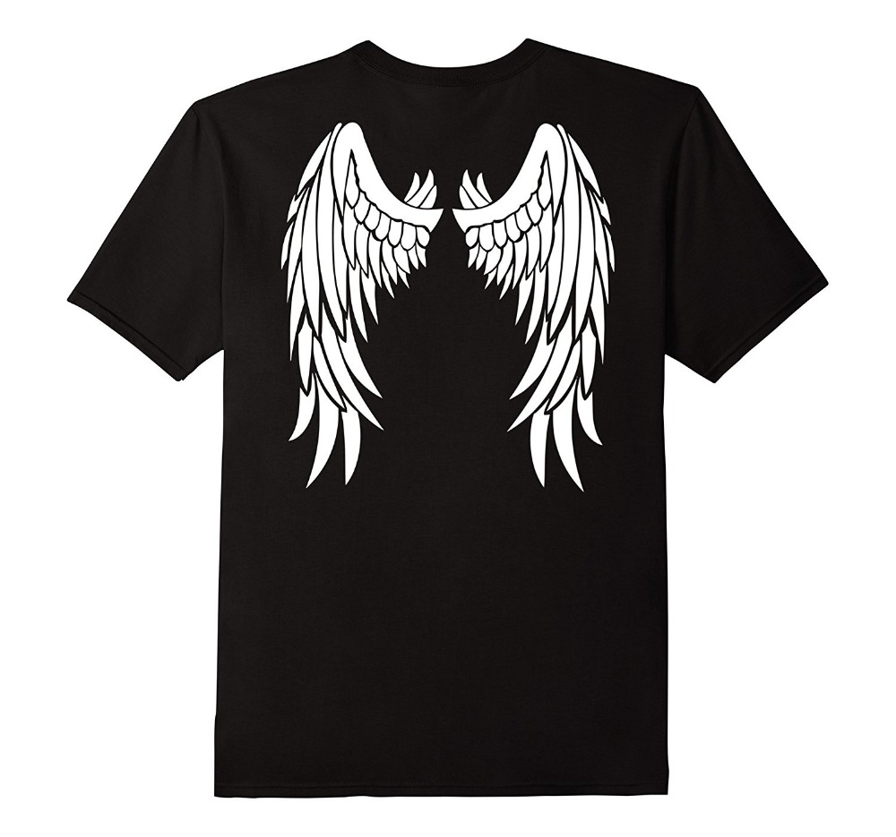 Design Style New Fashion Angel Wings On Back Men T Shirt Clothing Printed Cotton Top T Shirts Aliexpress