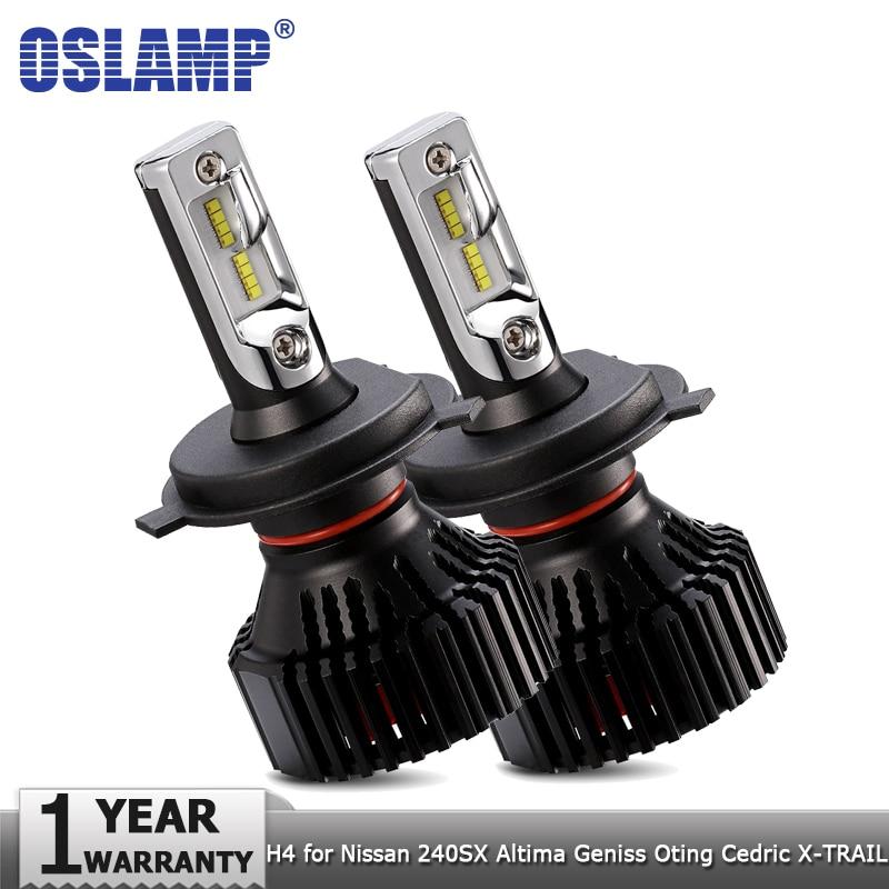 Oslamp H4 Hi lo Beam Car LED Headlight Bulbs 60W Auto Headlamp Fog Light 12v for Nissan 240SX Altima Geniss Oting Cedric X-TRAIL