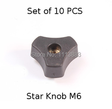 SET of 10PCS, M8 Star Knob for Woodworking Jigs