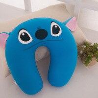 30 30cm U Shaped Blue Office Cotton Lint Nanoparticles Neck Nap Pillow Car Airplane Headrest Cushion