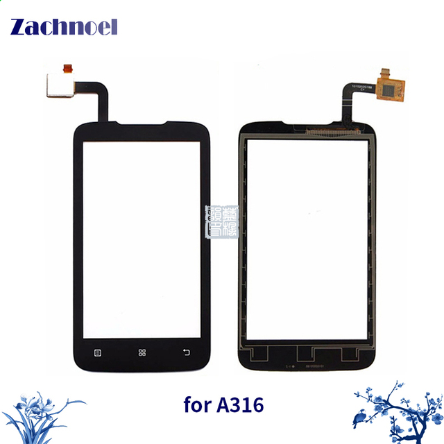 10pcs/lot 4.0'' Touchscreen for Lenovo A316 A316i Touch Screen Digitizer Sensor Lens Front Glass Touch Panel Replacement Parts