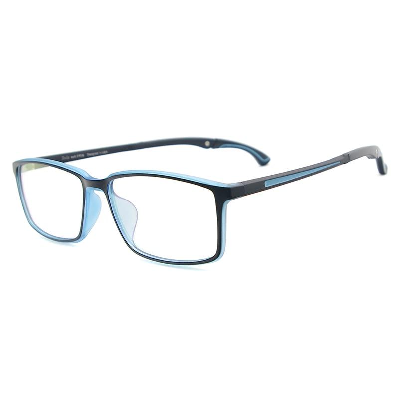 Men and Women Lightweight TR90 Spectacles Rectangular Sport Eyewear Frame With Anti Slip Holder For Multifocal Myopia Lenses