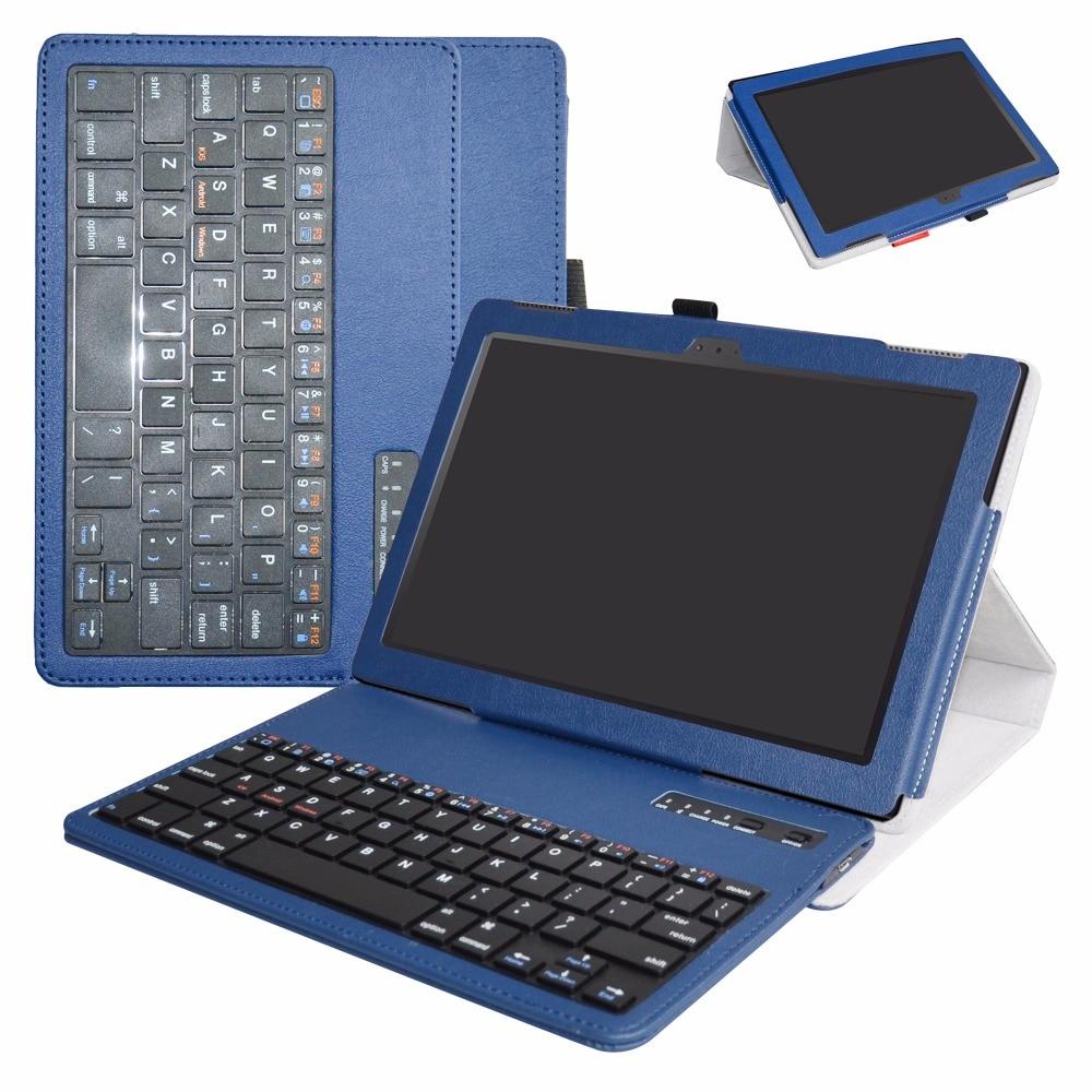 Tablet Case Pour Lenovo Tab 4 10 pouce tablet (2017 version) 2in1 Amovible Bluetooth Couvercle Du Clavier