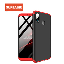 Suntaiho for Redmi 4X Case MI Max 3 case 360 Full Cover Phone Case Protective 3in1 Hard Matte Cover for Redmi 6A Phone Case