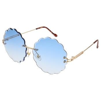 Il Trasporto Libero Occhiali Da Sole Ms. Telaio Meno Occhiali Da Sole Occhiali Da Sole Del Fiore Femminile Oceano Copriletto Occhiali Da Sole Di Colore Rosa Caldo Di Nuove Tendenze 2019