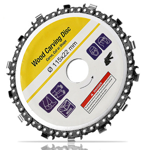 Image 2 - Hoja de sierra Circular de 115x22mm, cadena de motosierra, disco de tallado de madera, amoladoras angulares para carpintería, Universal para discos de corte de madera de 4,5 pulgadas