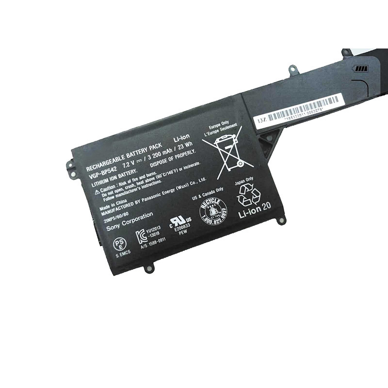 GZSM laptop battery VGP BPS42 BPS42 For Sony 11A SVF11N14SCP battery for laptop SVF11N15SCP SVF11N18CW battery in Laptop Batteries from Computer Office