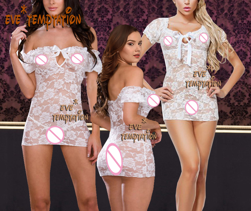 <font><b>Sexy</b></font> lace <font><b>Lingerie</b></font> <font><b>Babydoll</b></font> Underwear Translucent Bodysuits baby doll dress <font><b>transparente</b></font> Nightshirts Outfits 6908 image