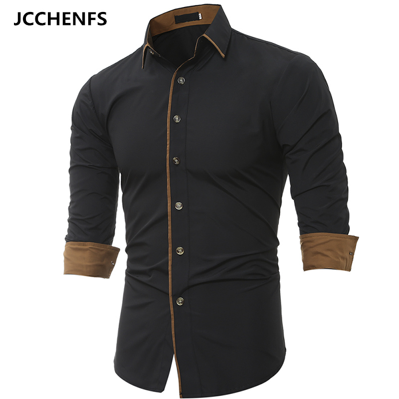 Men Business Shirt 2017 New Main Push Fashion Men S Shirts Long Sleeved Shirt Men S