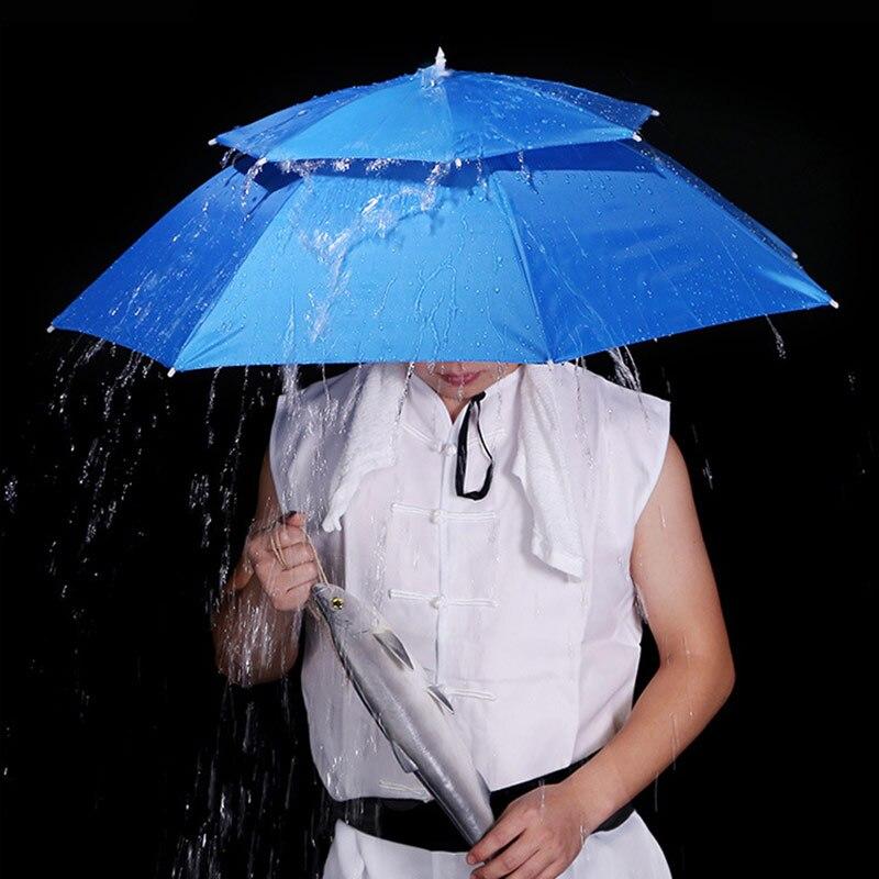 Duck Umbrella Novelty Dry Head Rain Helmet Fun Colourful Light Up Flash