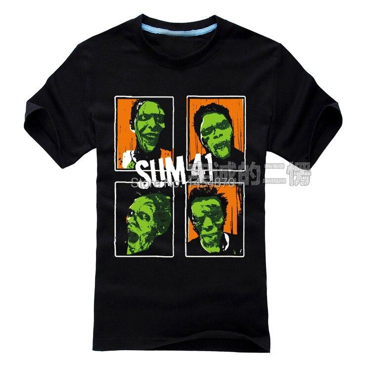 Cool High Quality Canada Sum 41 Punk Band Rock Brand 3D Black Shirt Items Fitness Hardrock Heavy Metal 100%Cotton