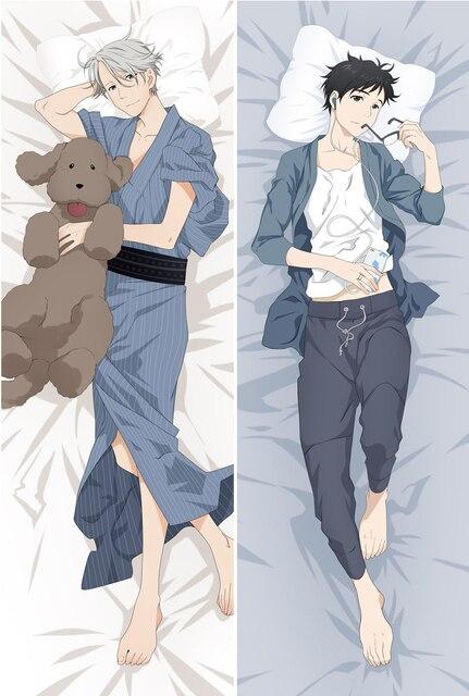 Anime giapponese YURI!!! su GHIACCIO Che Abbraccia Corpo Cuscino ...