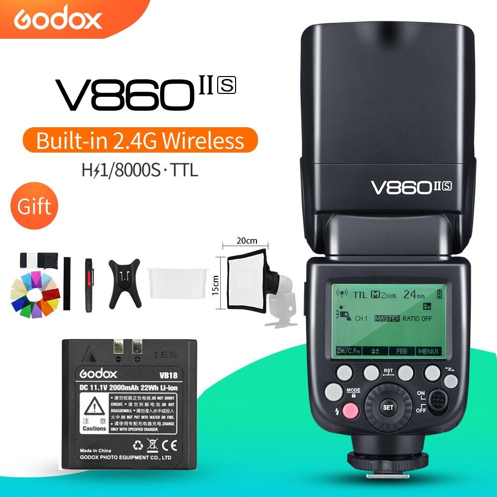 Godox V860II S GN60 TTL HSS 1 8000 2 4G Li ion Battery Speedlite Flash for