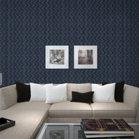 Simple Striped Wallpaper Nonwovens 3D Stereo Living Room Video Wall Hotel KTV Corridor Wallpaper Dazzling