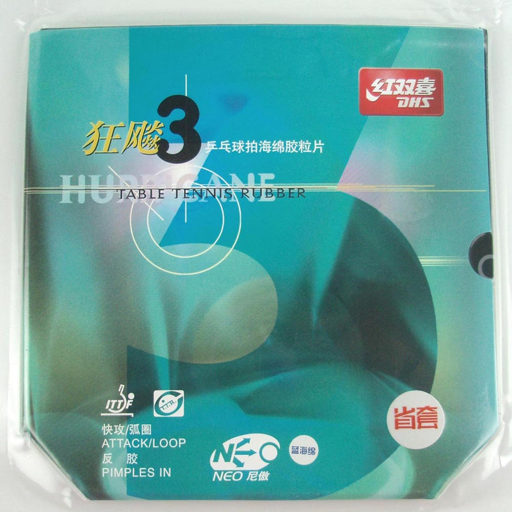 Blue Sponge Version Provincial DHS NEO Hurricane Black Pips In Table Tennis