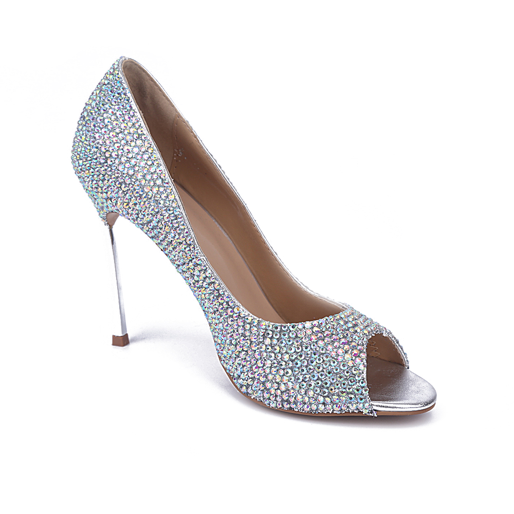 Bout Nouveau Mode Ouvert Talons De Stiletto 2017 En Embelli Color As Showed Cristal Mariage Femme À Bling Chaussures Sexy Hauts qS0AqBr