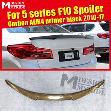 F10 Spoiler rear lip wings Carbon Fiber AEM4 style Fits For 520i 525i 528i 530i 535i 550i trunk wing 2010-2017
