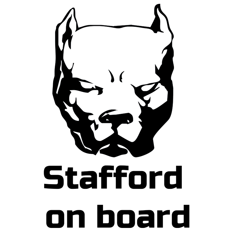 CK2274 18 5 12cm Stafford on Board funny car sticker vinyl decal silver black car auto stickers for car bumper window car decor in Car Stickers from Automobiles Motorcycles