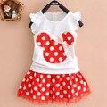 Lovely Baby Crianças Meninas Minnie Mouse Vestido de Festa Colete DressToddler Roupas Girls Dress 1-4Y