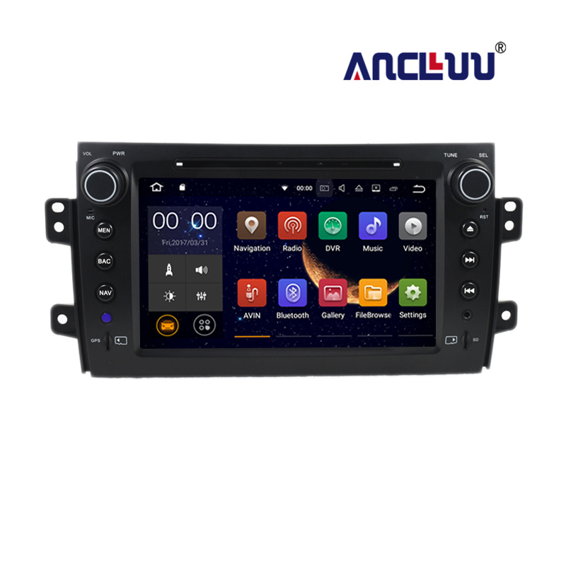 2 din Car DVD Radio Player GPS Navigation for <font><b>Suzuki</b></font> <font><b>SX4</b></font> 2007 <font><b>2008</b></font> 2009 2010 2011 2012 2013 <font><b>Android</b></font> 7.1 with 2G RAM image