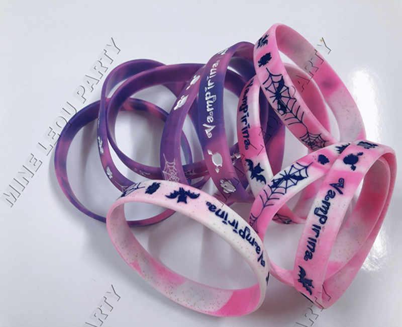 10pcs Vampirina Girl Theme Cartoon Party Supplies Silicone Wristband Bracelet Favors kids birthday Party Supplies