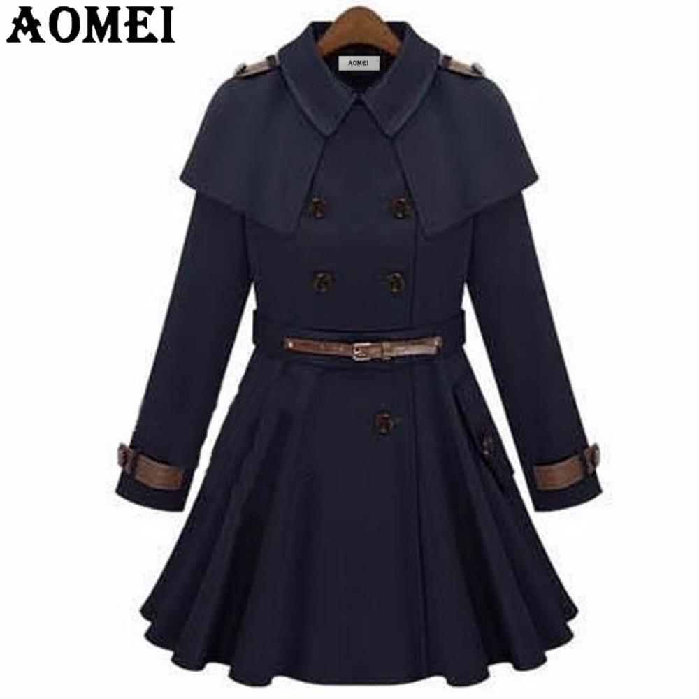 Женское осеннее Модное Длинное ветрозащитное пальто с поясом, темно-синяя верхняя одежда для офиса, женские топы с длинными рукавами, плиссированные зимние тренчи для офисных леди