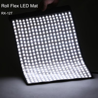 Falconeyes 34W Photo Waterproof Light Portable LED 5600K Photo Light 280pcs Flexible Roll LED Photography Lamp RX 12T