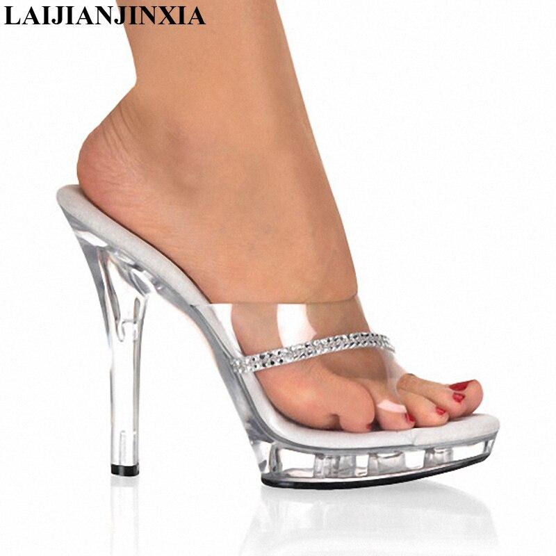 LAIJIANJINXIA New 5 Inch Excessive Heels Stripper Ladies's Footwear Crystal Footwear Scorching Attractive 2CM Platform Ladies's Summer season Slippers Pumps Slippers, Low-cost Slippers, LAIJIANJINXIA New 5 Inch Excessive Heels...