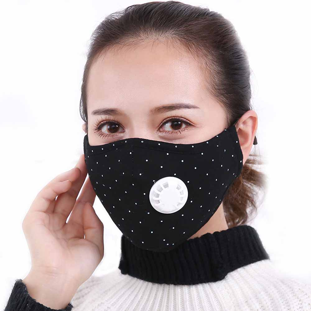 Tcare Anti Pollution Mask Dust Respirator Washable Reusable Masks Cotton Unisex Mouth Muffle For Allergy/Asthma/Travel