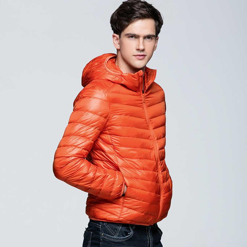 NewBang пуховик мужской ультра легкий пуховик мужские зимние куртки легкие куртки парка с капюшоном ветровка перо парка