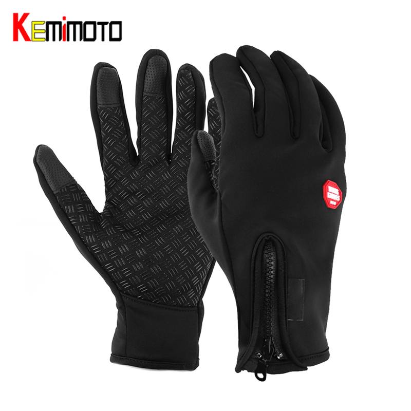 Kemimoto Cycling-Gloves Bike Sports-Bicycle Women Outdoor for Windstopper Simulated Soft