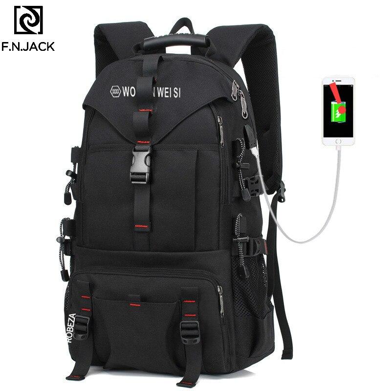 F. N. JACK nouveaux sacs de voyage créatifs grande capacité mode ordinateur épaule sac à dos en plein air sacs pour hommes sac à dos Causual - 3