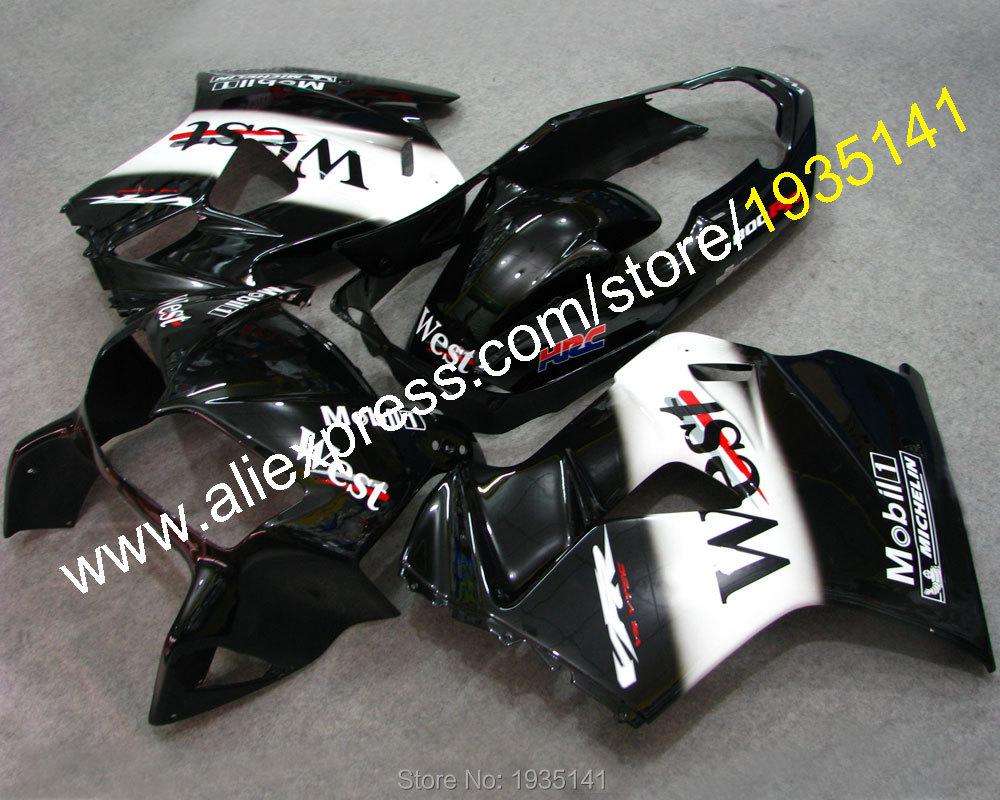 Горячие продаж,обвес для Honda VFR800 98 99 00 01 ВФР 800 VFR800RR 1998 1999 2000 2001 ПВП 800RR спортивный мотоцикл кузова обтекатель набор