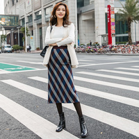 Warm Sweater Skirt Korean Fashion Maternity Belly Skirts Woolen Knitted Stretch A Line Skirts Bottom for Pregnant Women C735