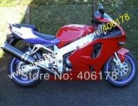 Sıcak Satış, Özel yarış kaporta kiti için Kawasaki Ninja ZX7R 1996-2003 96 97 98 99 01 02 03 ZX ZZR 7R 750 kırmızı fairing kiti