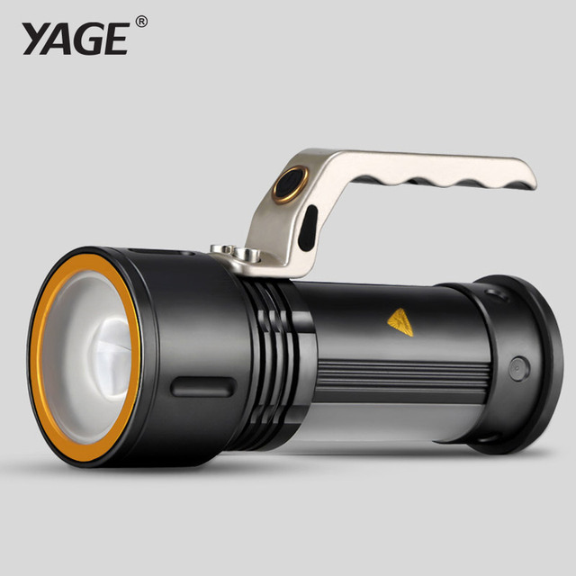 YAGE CREE led flashlight 2000-10000 lm zoom focus flashlight touch for 2*18650 battery lanterns led lamp night light