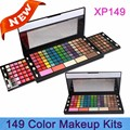 149 color Family expenses eye shadow lipstick lip gloss / blush / trimming double sliding glitter eyeshadow makeup Perfect set