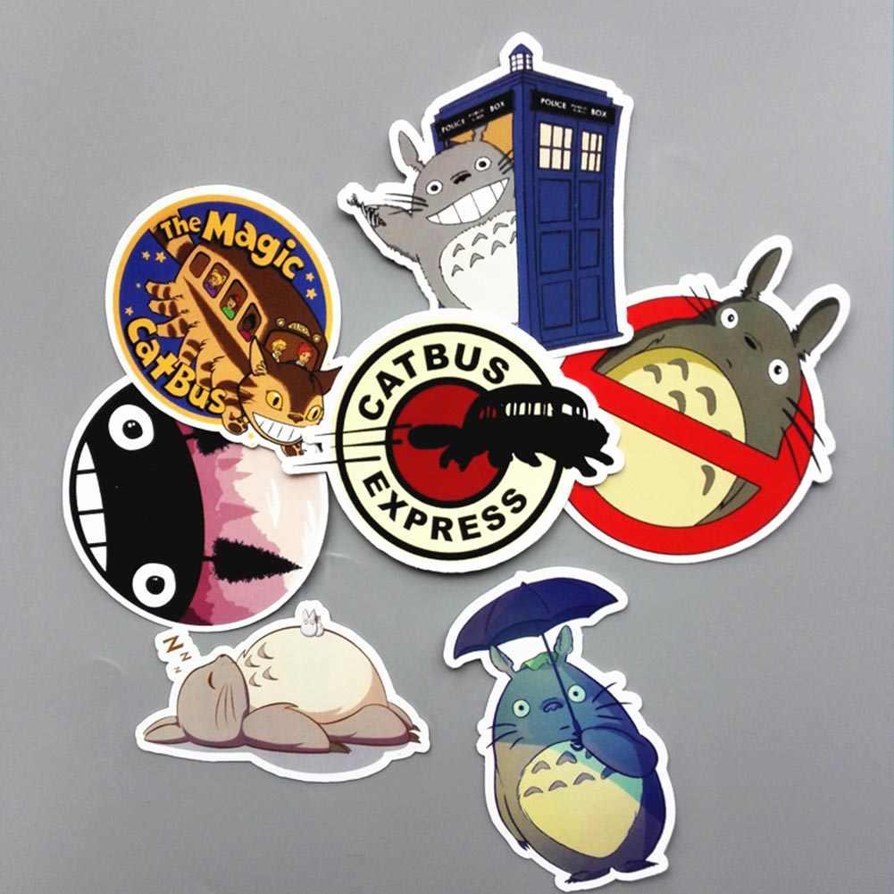 7 pièces/ensemble une pièce autocollant de bande dessinée de mode bâton sur le tronc de coffre Skateboard guitare Collection cartes enfants cadeau