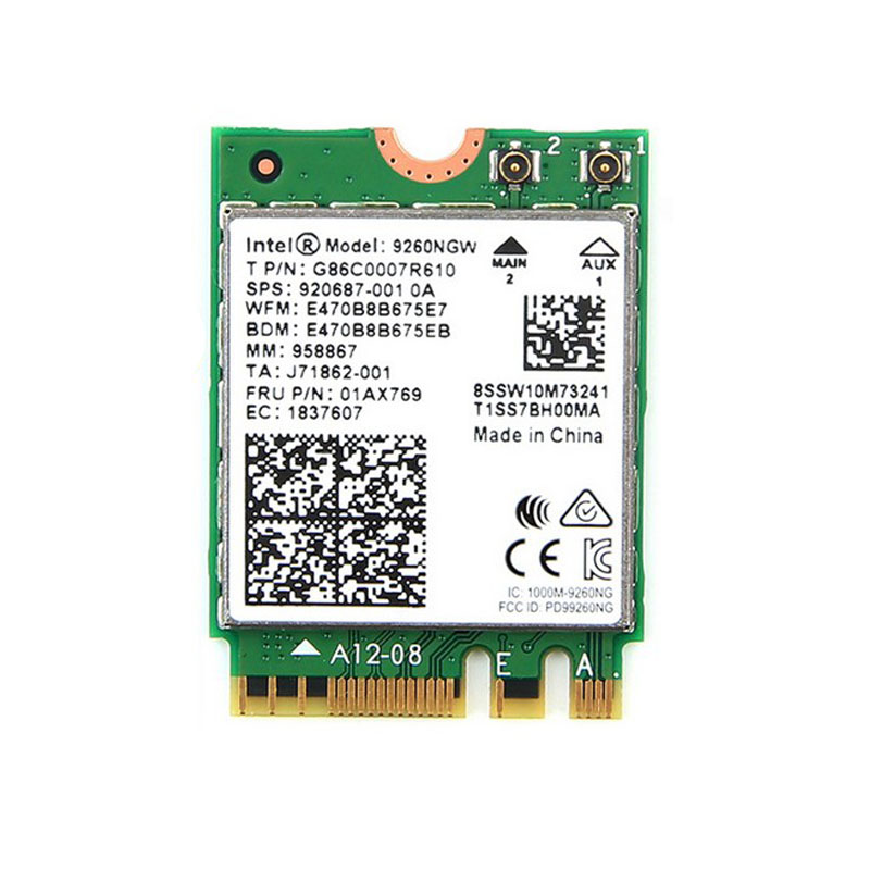 Brand new for Intel Dual band Wireless-AC 9260 9260NGW 9260ac 9260 ac Bluetoth5.0 5G 1730Mbps Wifi NetworkCard PK 8265 7260 8260
